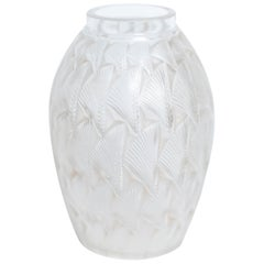 "Art Deco ""Grignon"" Frosted Glass Vase by René Lalique"