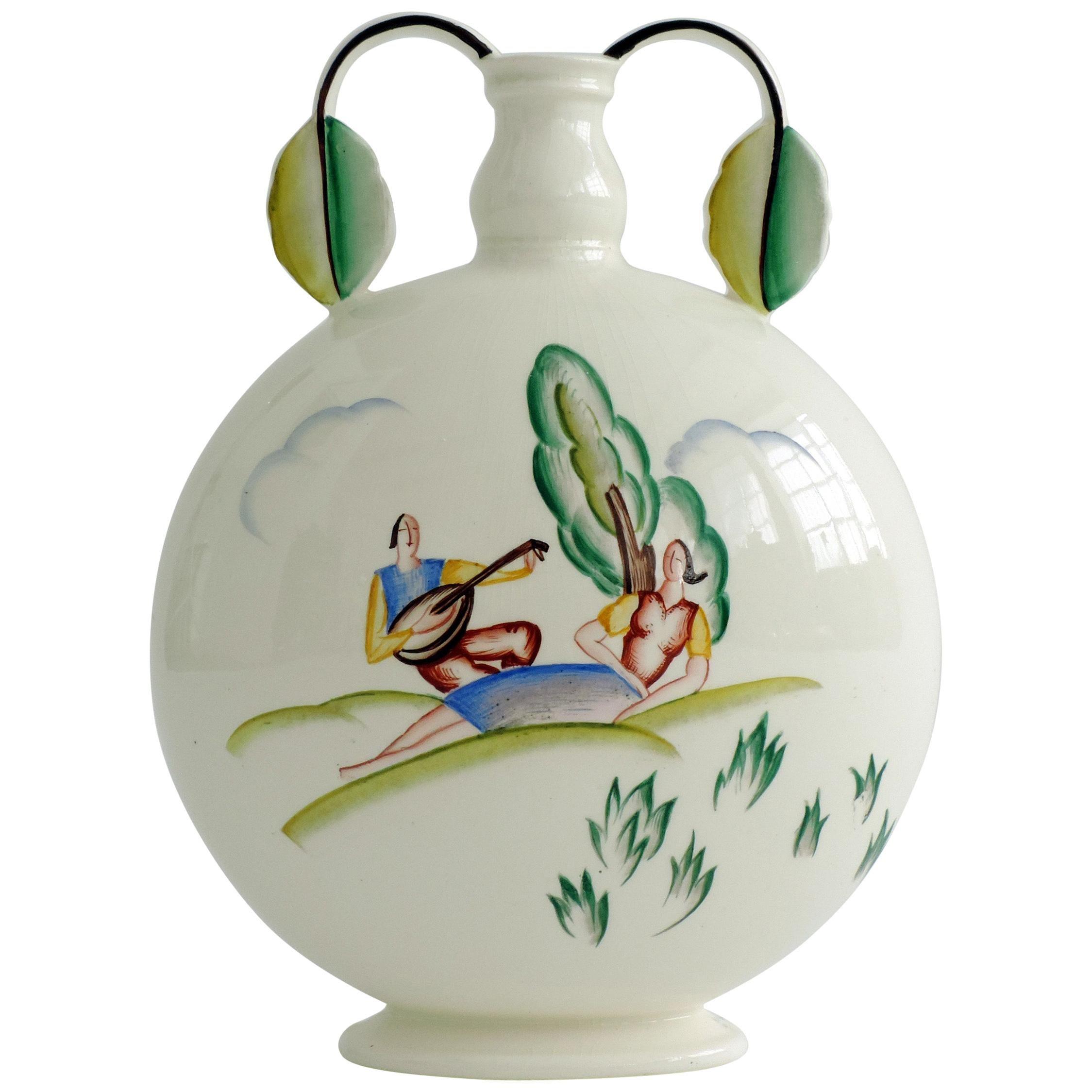 Art Deco Guido Andlovitz Ceramic Vase for S.C.I Laveno, Italy, 1940s