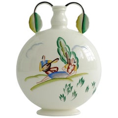 Art Deco Guido Andlovitz Ceramic Vase for S.C.I Laveno, Italy, 1940s
