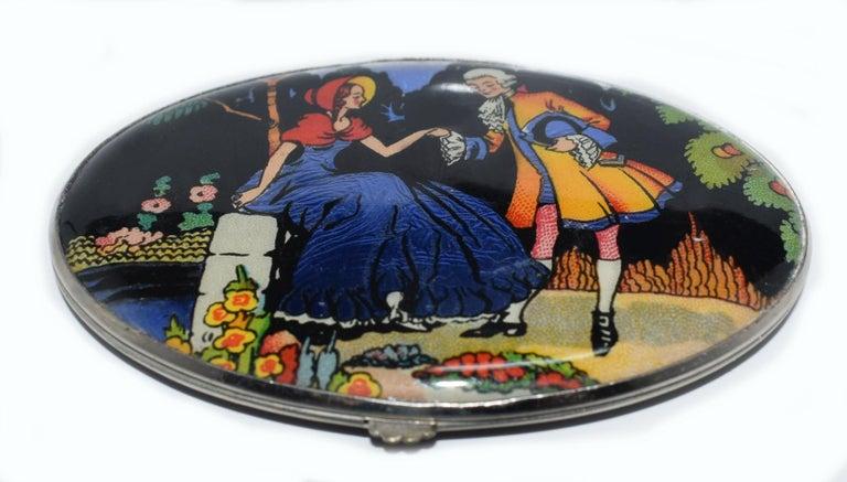 Art Deco Gwenda 1930s Art Deco Ladies Powder Compact For Sale 1