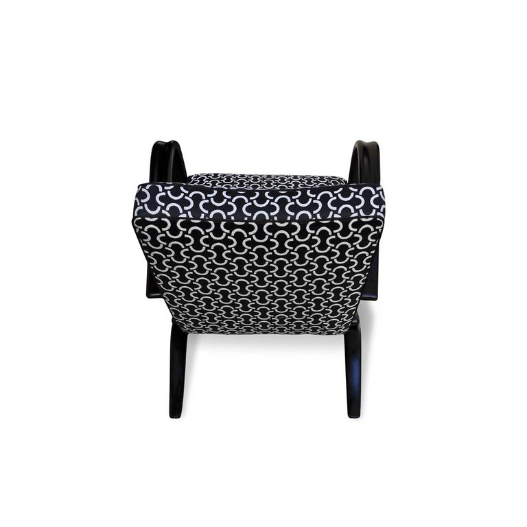 Mid-20th Century Art Deco Halabala Black Armchair For Sale