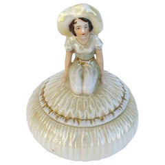 Art Deco Half Doll Trinket Box, 1930s
