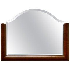 Art Deco Half Frame Mahogany Mirror