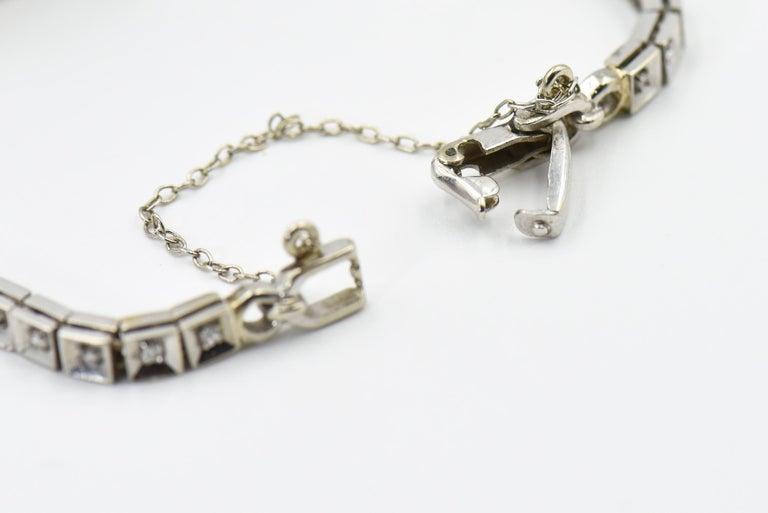 Art Deco Hamilton Ladies Diamond White Gold Dress Watch For Sale 2