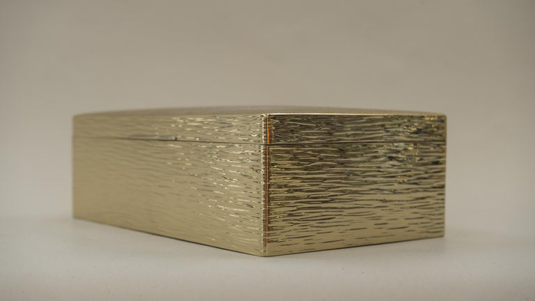 Art Deco Hammered Alpaca Jewelry Box, Vienna, 1920s For Sale 4