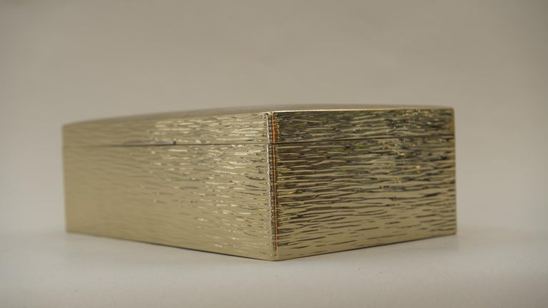 Art Deco Hammered Alpaca Jewelry Box, Vienna, 1920s For Sale 5