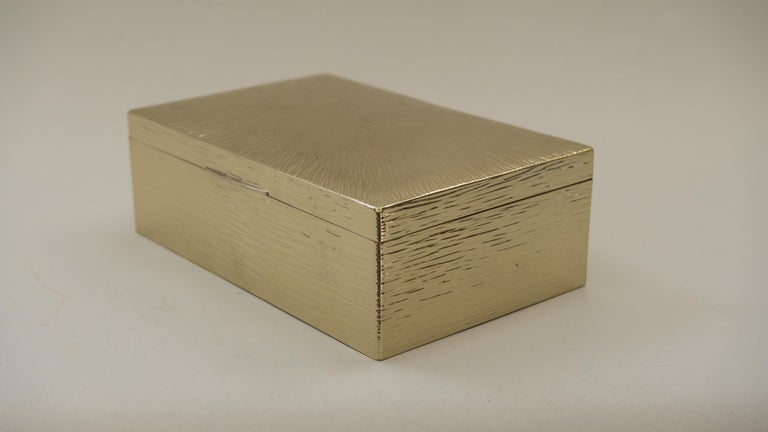 Art Deco Hammered Alpaca Jewelry Box, Vienna, 1920s For Sale 6
