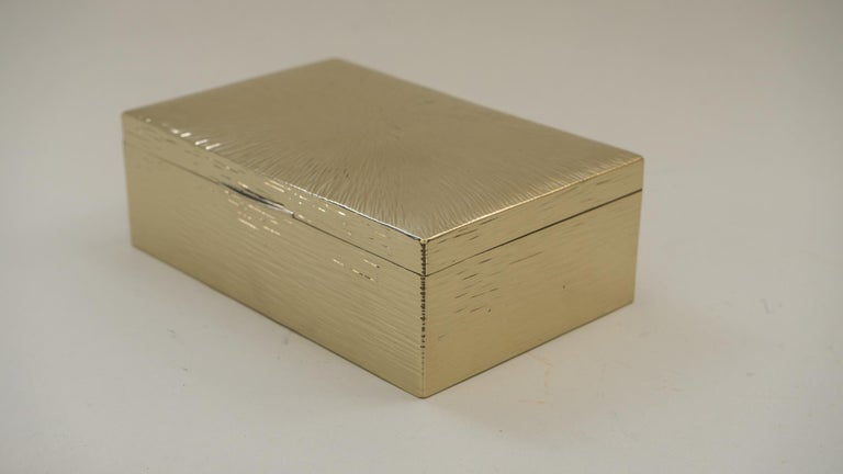 Austrian Art Deco Hammered Alpaca Jewelry Box, Vienna, 1920s For Sale