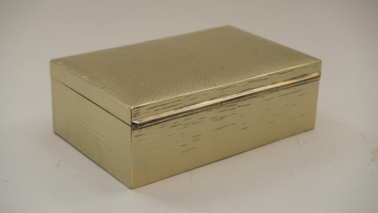 Art Deco Hammered Alpaca Jewelry Box, Vienna, 1920s In Good Condition For Sale In Wien, AT
