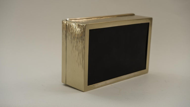 Art Deco Hammered Alpaca Jewelry Box, Vienna, 1920s For Sale 1