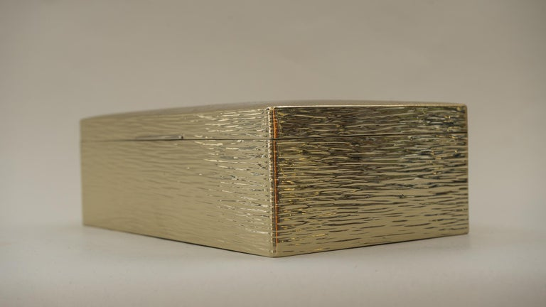 Art Deco Hammered Alpaca Jewelry Box, Vienna, 1920s For Sale 3