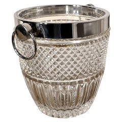 Art Deco Hand Cut French Crystal Champaign Wine Cooler