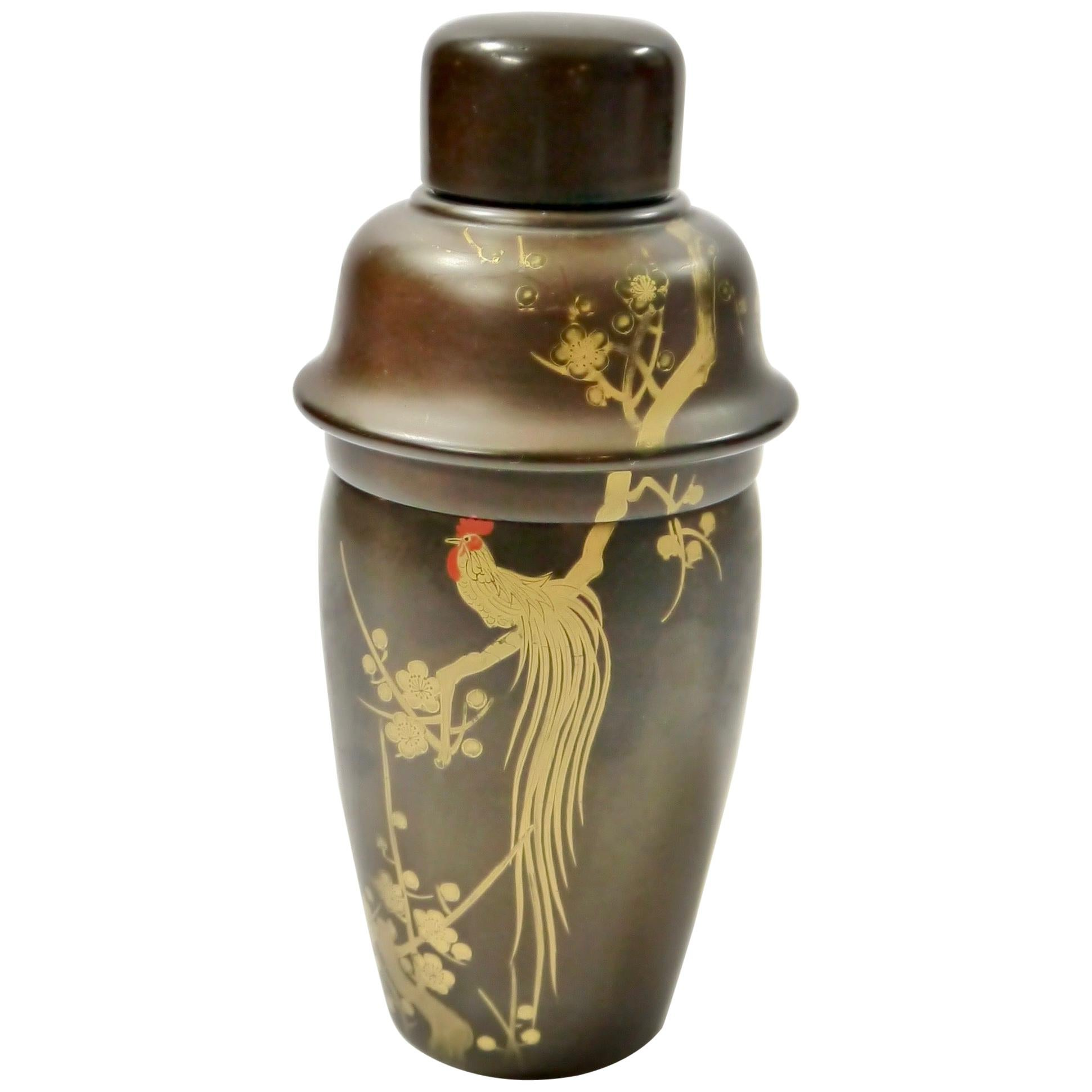 Art Deco Hand Painted Bakelite Cocktail Shaker
