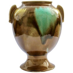 Art Deco Handmade and Hand Glazed Planter Jardinière, 1930, Belgium