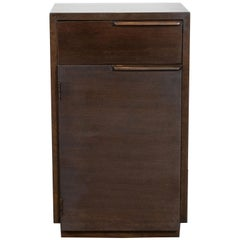 Art Deco Handrubbed Burled Walnut Nightstand by Gilbert Rohde for Herman Miller