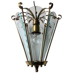Art Deco Hexagonal Hall Lantern