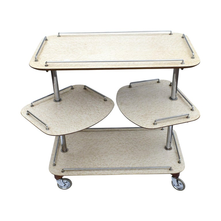 For your consideration is this high style 20th century Postmodern trolley. A truly stylish and chic elegant cart dating from the late 1930s. In excellent condition is with just some minor signs of age. A really chic midcentury piece that not only
