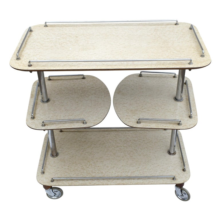 Art Deco High Style Drinks Trolley Cart In Good Condition For Sale In Devon, England