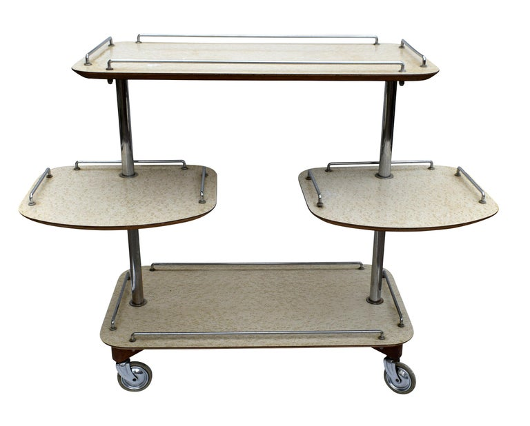 20th Century Art Deco High Style Drinks Trolley Cart For Sale