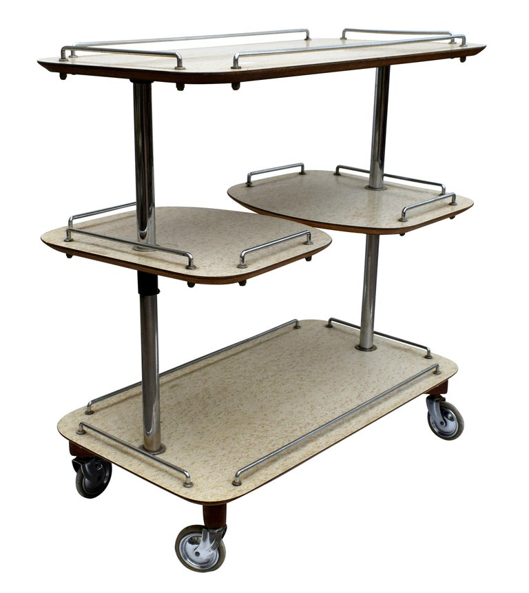 Art Deco High Style Drinks Trolley Cart For Sale 1