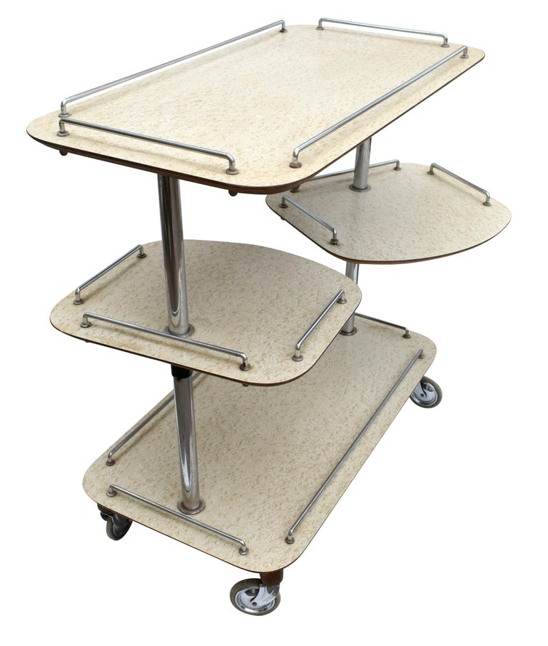 Art Deco High Style Drinks Trolley Cart For Sale 2