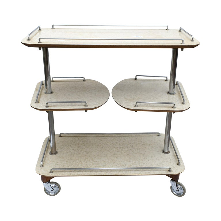 Art Deco High Style Drinks Trolley Cart For Sale