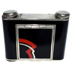 Art Deco Highly Geometric Ladies Combination Atomiser and Powder Compact