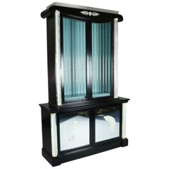 Art Deco Hollywood Regency Lucite Display Cabinet Designed by Lorin Jackson