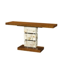 Art Deco Horn Panelled Console