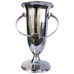 Art Deco Huge French Chrome Wine Cooler Ice-Bucket, c1930