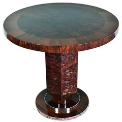 Art Deco Hungarian Side Tables in Walnut