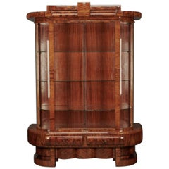 Art Deco Hungarian Vitrine in Walnut