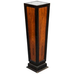 Art Deco Illuminated Parcel Ebonized Pedestal