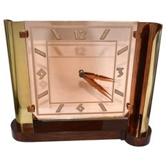 Art Deco Impressive Streamline Modernist 8 Day Mantle Clock, circa 1930