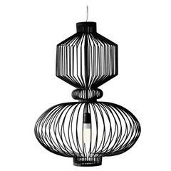 Art Deco - Industrial Black Pendant Revolution Suspension Lamp