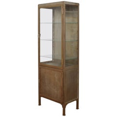 Art Deco Industrial Display Metal Cabinet Around 1930