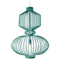 Art Deco - Industrial Mint Green Pendant Revolution Suspension Lamp