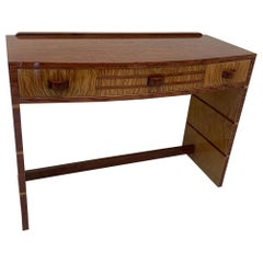 Art Deco Inlaid Desk or Wall Console Table, circa 1930s
