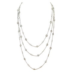 Art Deco Inspired 9.83 Carat Diamonds by The Yard Platinum Necklace