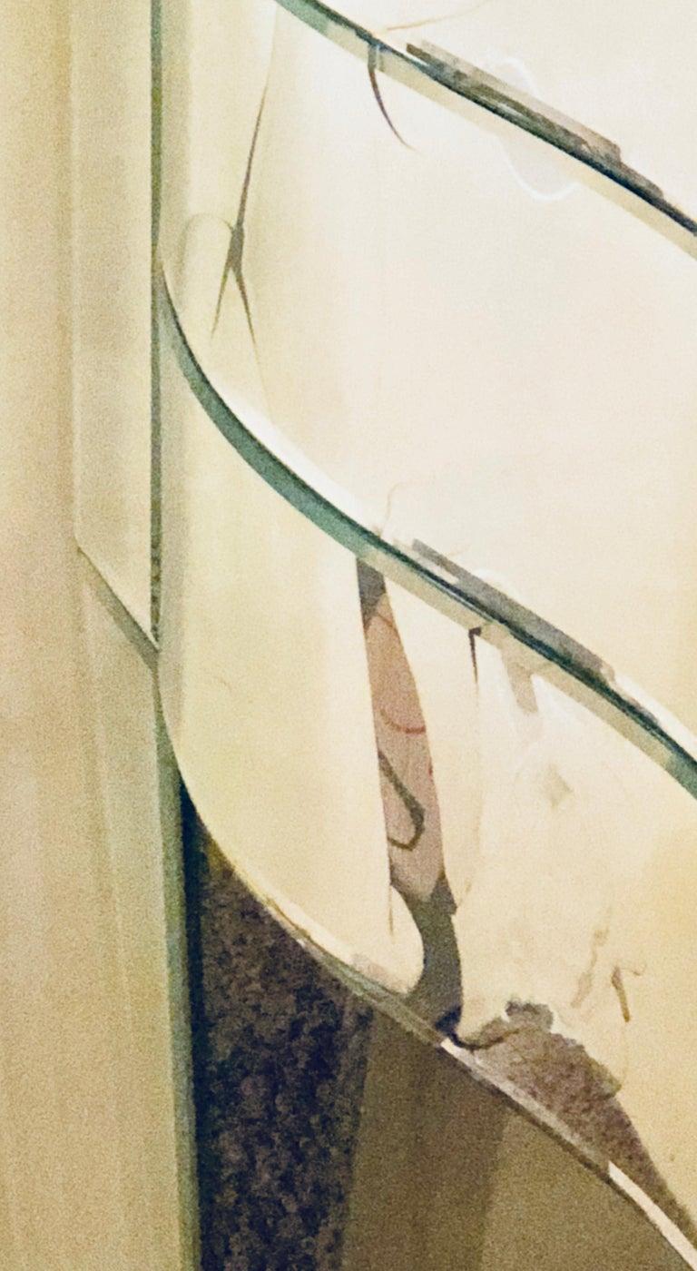 Art Deco Inspired  Beveled Mirrored Vanity Desk Hollywood Regency Style For Sale 6