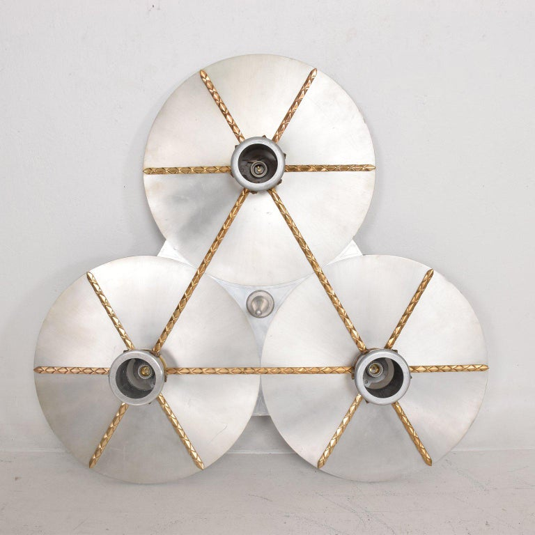 Art Deco Inspired Ceiling Light Fixture Chandelier In Good Condition For Sale In National City, CA