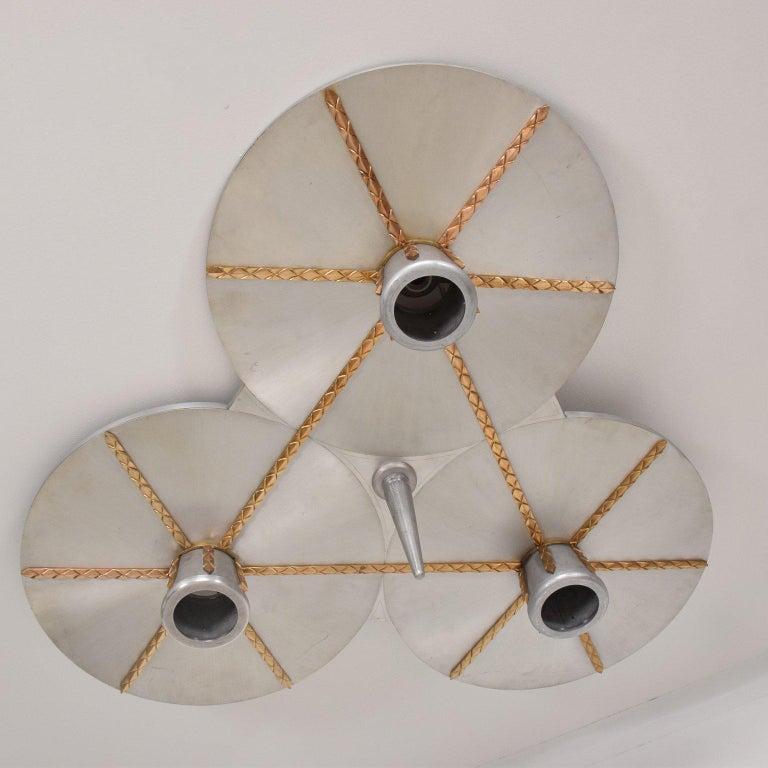 Art Deco Inspired Ceiling Light Fixture Chandelier For Sale 2