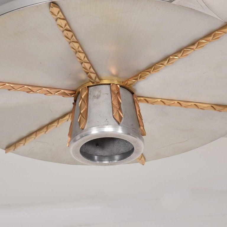 Art Deco Inspired Ceiling Light Fixture Chandelier For Sale 3