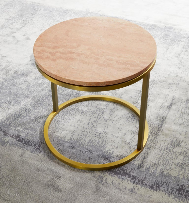 Nothing beats the elegance of a round coffee table, the Diana table has the right proportions, sleek lines and is made of urban luxe materials. The petite round table adds dimension to any space filled with furniture and its rounded shape can aid on
