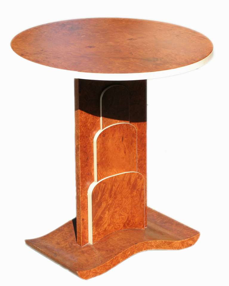American Art Deco Inspired Flip Table Pair in a Jacques Ruhlmann Manner For Sale