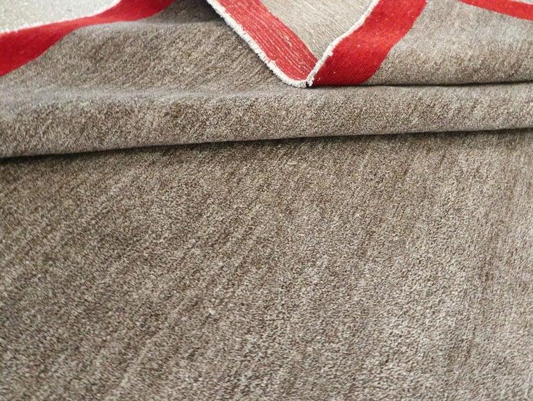 Art Deco Inspired Mid-20th Century Handmade Persian Mashad Room Size Carpet For Sale 5