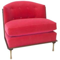 Art Deco Inspired Slipper Chair