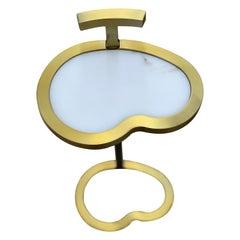 Art Deco Inspired Vesper Martini Table Bean Shape in Brushed Brass Tint