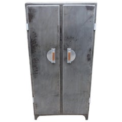Art Deco Inspired Vintage French Iron Kitchen Pantry Cupboard