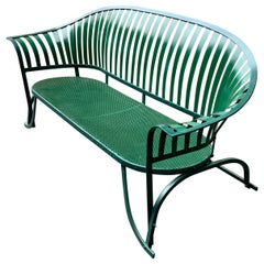Art Deco Iron Sleigh Bench